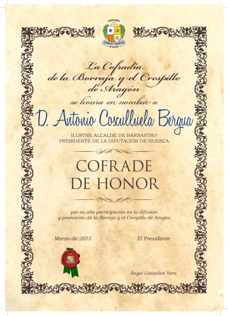 Cofrade de Honor Cosculluela