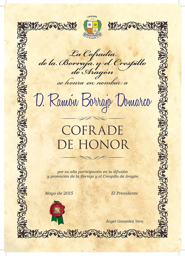 Cofrade de Honor Ramón Borrajo