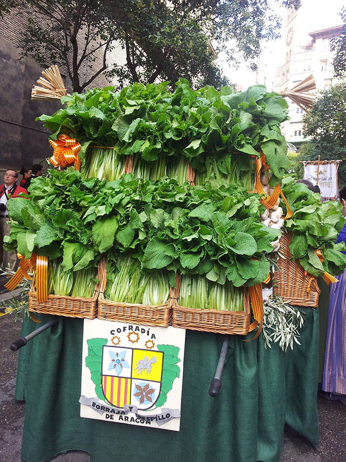 Ofrenda de frutos. Pilar 2014