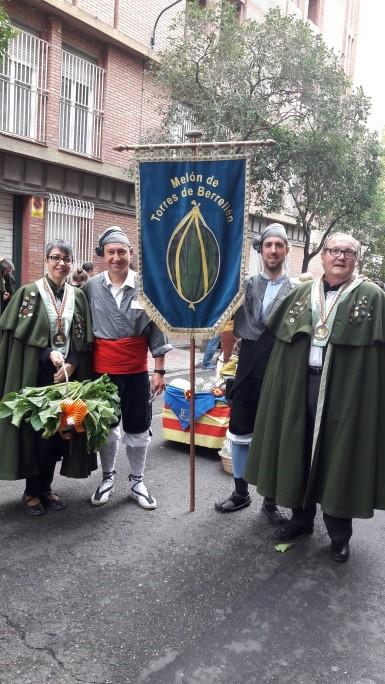 Con el grupo del Melón de Torres de Berrellén